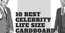 Life Size Celebrity Cardboard Cutout Deals UK / A collection of celebrity life-size cardboard cutouts, find a celebrity and take him home today courtesy of the best deals on cardboard celebrity cutouts from http://ineediwant.co.uk