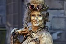 Steampunk Lady - living statue / Forged in the fires of a Victorian furnace!