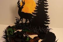 Hunting Cakes / Cakes designed for hunters of elk (muss), reindeer and deer.