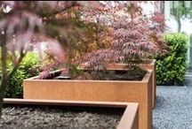 Rustically Rusty and Weathered - Corten Steel Planters and Garden Pots / Corten Steel planters naturally weather to develop a protective, striking, rust that seals the planter making it virtually indestructible and also provides a stunning industrial look.  To see more visit www.thepotco.com