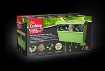 The Cubby Series - New concept in Storage / Garden Cubby, Spa Cubby, Utility Cubby, Garage Cubby, Shed Cubby...endless storage solutions! Handy hooks can be used to over the fence/railing mount if you don't want to wallmount!!