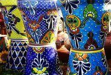 Talavera kaspók pozsgásoknak, Succulents in Talavera pottery / Talavera kaspók pozsgásoknak, Succulents in Talavera pottery