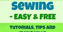 Sewing - EASY & FREE / This is the place to find the best (FREE) SEWING projects, TUTORIALS and tips for beginners and hobby sewists. From free bag patterns, little sewing projects, home decor diys, to apparel patterns: skirt, tunic, pants, shirt or dress patterns. Learn to sew. Take a look at sewing tips, browse new free sewing project ideas and enjoy! :)