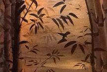 Peinture flo / Encre de Chine et acrylique