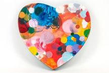 Hearts :: Dennis Happé / Art by Dennis Happé, heart, love, abstract, painting, drawing