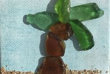 Oceanside Sea Glass Art / Somebody threw it away, the ocean had its way with it, I found it, bing bang boom, it's Sea Glass art. Now you can buy it.