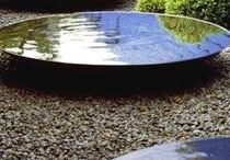 Natural Mirrors: Water Features, Bowls & Ponds / Create a wildlife haven or a striking natural feature in your garden. Reflecting the surrounding foliage and the skyscape above. #gardening #landscaping #design #waterfeaturewednesday #thepotco Contact the sales team on 01892 890 353 or sales@thepotco.com