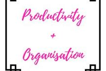 Productivity + Organisation / productivity, motivation, organisation, goals, aims, success, planning, organising, business, lifestyle, happiness, mindfulness