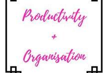 Productivity + Organisation / productivity, motivation, organisation, goals, aims, success, planning, organising, business, lifestyle, happiness, mindfulness