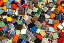 Mix Vitreous Glass / mosaic tiles and supplies from xinamarie, italian smalti and millefiori, mirror and glass, vitreous and metallic tiles, tools, glue, grout, tips and kits, and more
