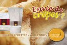 Préparations pâtes à crêpes et gaufres Authentic' / Nos préparations de pâte gourmandes et savoureuse pour des crêpes et gaufres irrésistible.