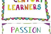 INSPIROIVIA AJATUKSIA / Tässä taulussa on ajatuksia ja ideoita oppimiseen liittyen.