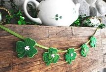 St. Patrick's Day Mantels / This board is dedicated to St. Patrick's Day decorations. Show your festive spirit by decorating your fireplace mantel and more! #fireplaces #st.patrick'sday