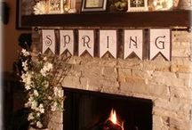 Spring Fireplace Mantle Decorations / Brighten your mantel with a spring time theme. Here are some pins that we found helpful. .