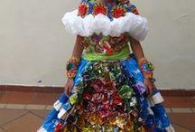 VESTIDO  ECOLOGICO - TRAJES RECICLABLES / lindos vestidos que te daran idea para que tus chiquis concursen en reinados ecologicos