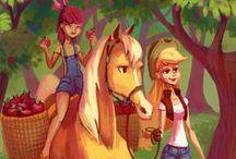 My Little Pony <3 <3 / My Little Pony: Friendship is Magic; My Little Pony: Equestria Girls; My Little Pony Equestria Girls: Rainbow Rocks.