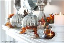 Fall Fireplace Mantel Decoration / The leaves are changing and the weather is cooling. Now is a great time to give your fireplace mantel a fall theme.