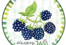 Jam label by Pinturicon / jam labels, download jam labels,hand painted jam labels,etiquettes, label, hand painted