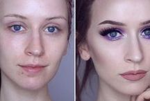 Before and After / Poze inainte si dupa machiaj.