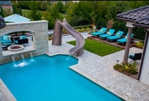 Pool Slides / Residential and commercial solutions, in a variety of sizes, colors and designs for any pool!