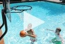 Pool Games / Whether it's one on one or team play, basketball and volleyball are even more fun when played in the pool! S.R.Smith offers a complete line of commercial and residential pool games.