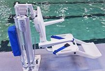 Pool Access Equipment / S.R.Smith ADA compliant Pool Lifts help everyone get in and out of the pool safely!