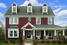 James Hardie's Countrylane Red / Homes featuring James Hardie's Countrylane Red ColorPlus Technology http://www.jameshardie.com/homeowner/colorplus-palette.shtml