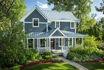 James Hardie's Evening Blue / Homes featuring James Hardie's Evening Blue ColorPlus Technology http://www.jameshardie.com/homeowner/colorplus-palette.shtml