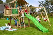 ► playsets / A wide variety of childrens wooden climbing frames with extra features and combinations to keep your playground fresh, new and exciting. The possibilities are almost endless and an excellent birthday present!  Check our website for more information!