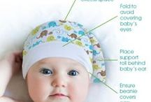 Flat Head Syndrome Prevention  / Flat Head Syndrome (Plagiocephaly) is a condition that occurs when infants spend long periods of time laying on the back of their heads or in a favored position and a flat spot develops. Infants can spend up to 16 hours laying on their backs when traveling in car seats, in swings, in bouncers and strollers. Some babies may be born with Plagiocephaly because of restricted in utero positioning, during the birth process or from extended stays in a neonatal intensive care unit.