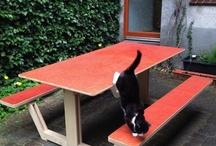 Picnic Tables | Picknick tafels / Picnic Tables found along the way | Picknick tafels van her en der