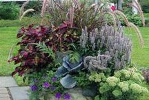 Gardens - Container ideas / Ideas for containers and also how to plant them