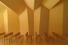 Architektur / einfache klare Architektur, einfaches natürliches Material