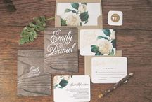 Wedding Papeterie / Alles rund um die detailverliebte Hochzeitspapeterie! Einladungen, Menü-Karten, Save the Date etc.
