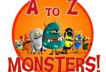 A to Z Monsters! / A to Z Monsters is a quirky app which teaches children the alphabet through some very naughty Monsters. How do a bunch of monsters teach the alphabets?The child has to catch it 3 times for it to return back to the box. Each time the monster is caught, the letter is spoken out loud. The monsters can be released only in a chronological way teaching the child alphabet sequentially. This app is simple enough for the child to learn ABC's without any adult supervision.