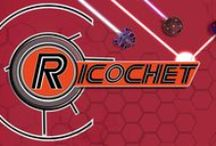 Ricochet / Ricochet is available on the App Store currently for Iphone and Ipod touch devices.
