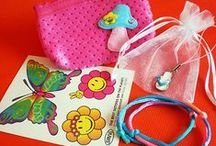 Girls' Summer Party Bags / Butterflies, sunshine, long summer days in the garden and the seaside!  We have lots of summery ideas for girls' party bags.