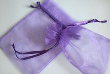 Organza Drawstring Bags / Make your wedding favor and party bags really special by using some of our gorgeous array of organza drawstring bags!