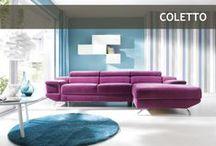 Corner sofa Coletto / elegancki narożnik Coletto / Klasa i elegancja - to model Coletto marki Gala Collezione (producent: Fabryka Mebli Gala Collezione). Lekki dzięki smukłym chromowanym nóżkom, wprowadzi do Twojego salonu powiew świeżości i nowoczesności.