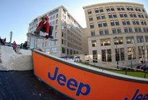 OutCold x Jeep Downtown Throwdown / Positioning Jeep as the vehicle for action sports enthusiasts, OutCold designed and constructed a 2.5-story snowboard park spanning two city blocks of Capitol Square in Madison, Wisconsin during the city's annual Winter Festival.