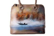 Places Collection / Lovely moments in your trips! 100%  hand-painted leather bags.