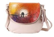 Soul Art Collection / Owls, cats, birds and other art for your soul! 100%  hand-painted leather bags.