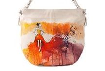 Mistique Collection / Fancy Ballerina, Geometry and a lot of colors! 100%  hand-painted leather bags.