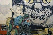 Ukiyo-e(yokai/animal) / wood print & Japanese art