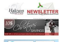 Classicparts newsletters - Keeping you updated! / Special deals and discounts, a newsletter every Tuesday!