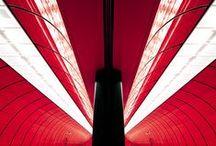 Red+Light / Color Inspiration. #iGuzzini #Lighting #Red