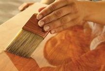 Finishing Wood / Finishing your wood is the easy part. Finding inspiration starts here!