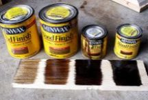Staining Wood / Enhance your wood with a beautiful stain finish that will accentuate your home's look!