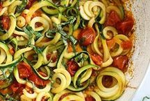Zoodles / Eten gemaakt met de spiralizer.