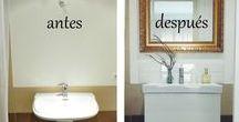 Reformar baño lowcost / Cambio de look de un baño, reformar baño de forma barata y sencilla, añadir glamour a un baño normal